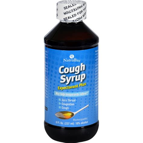 Detox Cough Syrup by Natrabio Cough Syrup Expectorant Plus 8 Fl Oz
