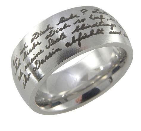 Ring Gravur by Monischmuck Mode Ring Edelstahl Mit Gravur Rilke
