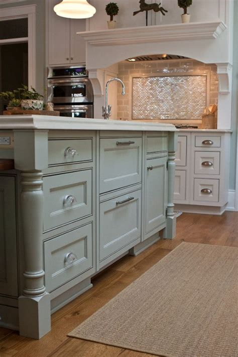 painted islands for kitchens paint color is gray by benjamin
