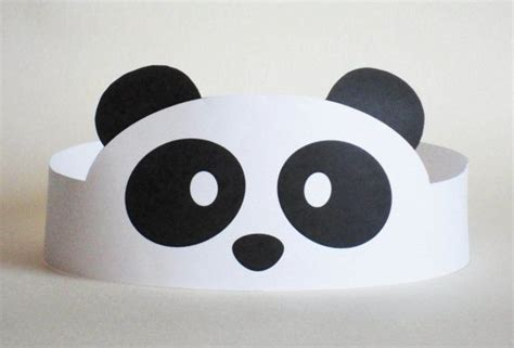 paper panda templates panda paper crown printable crafts and worksheets for