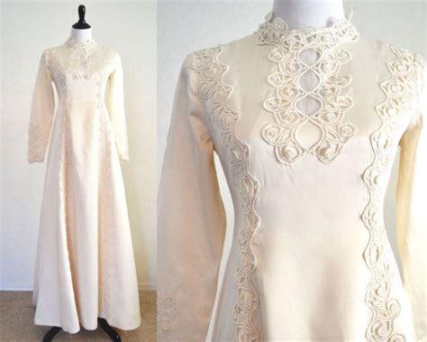 hochzeitskleid jugendstil 1960s wedding dress art nouveau details boho chic style