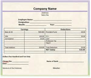 free salary slip template pay slip form search engine at search