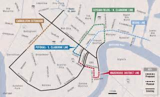 new orleans trolley car map new orleans streetcars
