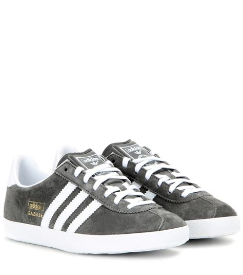 adidas originals gazelle og suede sneakers in gray lyst
