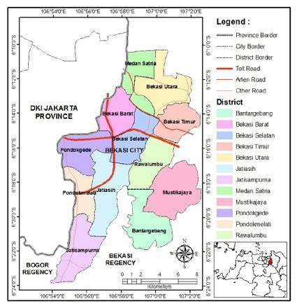 bekasi city   districts  image