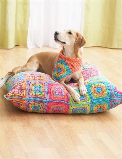 dog bed patterns free crochet pattern pet bed manet for