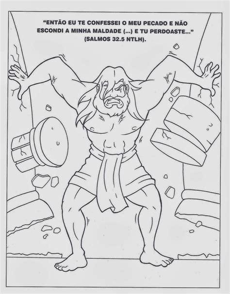 dibujos para nios de la historia de sanson actividades de sanson para ni 241 os imagui