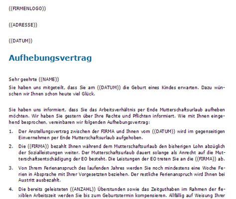 Vorlage Kündigung Arbeitsvertrag Bitte Aufhebungsvertrag Www Schweizer Vertraege Ch Schweizer Mustervertr 228 Ge
