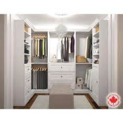 how to design a walk in u shape storage closet