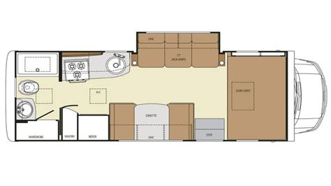 Cabin Floor Plan With Loft by 23 Ft Class C Motorhomes Rv Class C Motorhome Floor Plans