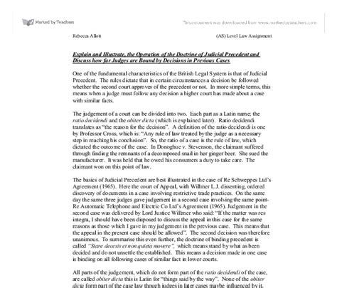 Civil Justice System Essay by Judicial Precedent Essay Www Pendle Net