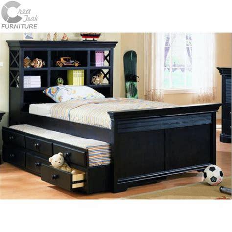 Kasur Anak Bertingkat tempat tidur anak duco hitam createak furniture