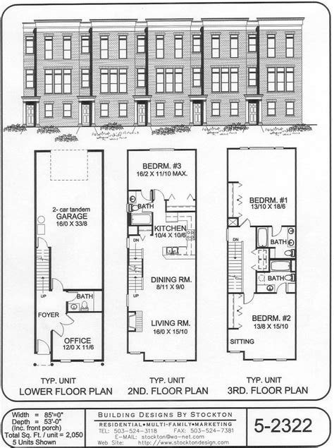 duplex row house floor plans row houses townhouses pinterest