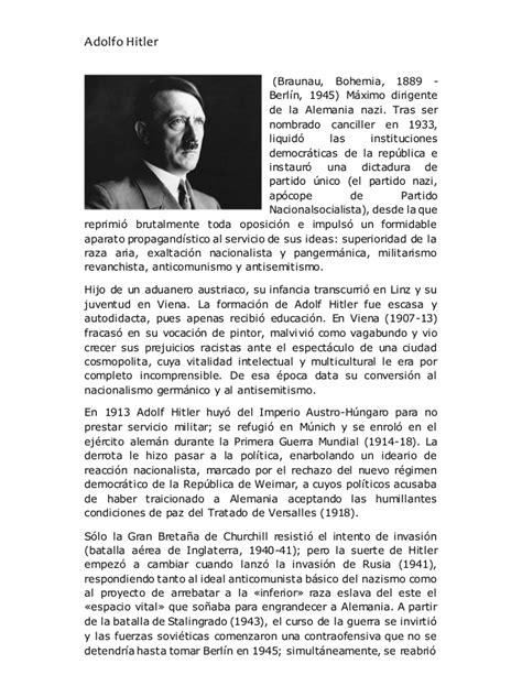 adolf hitler biography slideshare biografia adolfo hitler