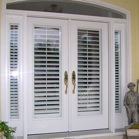blinds for glass front doors 25 best ideas about exterior doors on