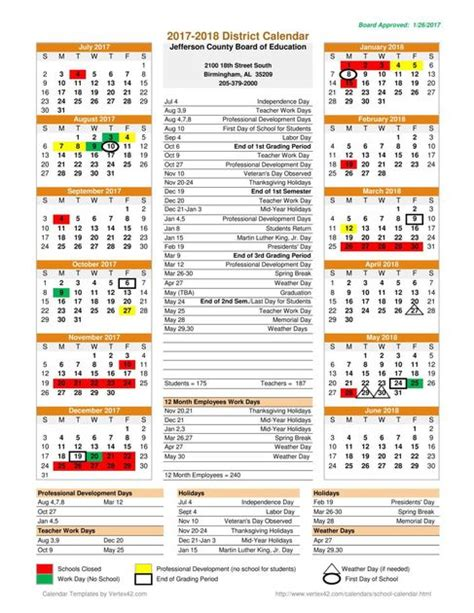 Kalender Vip 2018 Jefferson County Boe Calendar For 2017 2018 And 2018 2019