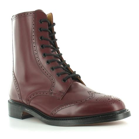 mens stable boots nps ls910 mens leather 9 eyelet traditional country brogue