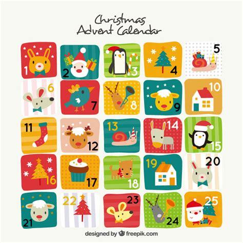 design kalender retro leuke advent kalender in vintage design vector gratis