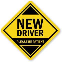 new driver car new driver car hang tag and label sku tg 1496