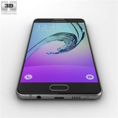 Samsung A5 2016 Black samsung galaxy a5 2016 black 3d model humster3d