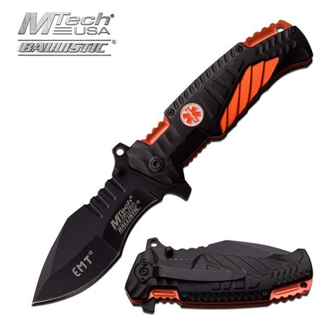 Pisau Mtech 8 1 4 Assisted Open Orange Two Tone Blade Tactical Mtech Usa 4 75 Inch Closed Emt Assisted Opening Knife