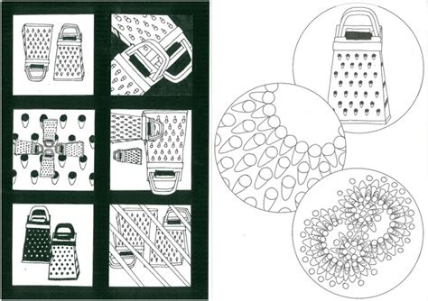 simple pattern development design development from a cheese grater it shows the many