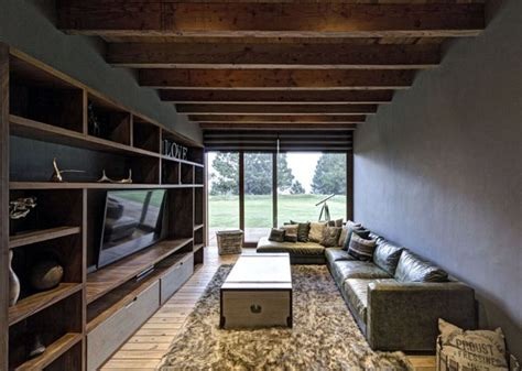 Wood Interior Homes House With Magnificent View By Elias Rizo Arquitectos Interiorzine