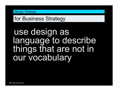 design thinking for business design thinking for business strategy