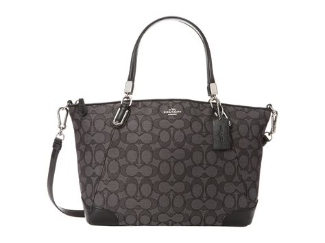 Tas Coach Kelsey Small Smoke Sign coach signature updated small kelsey in black sv black smoke black lyst
