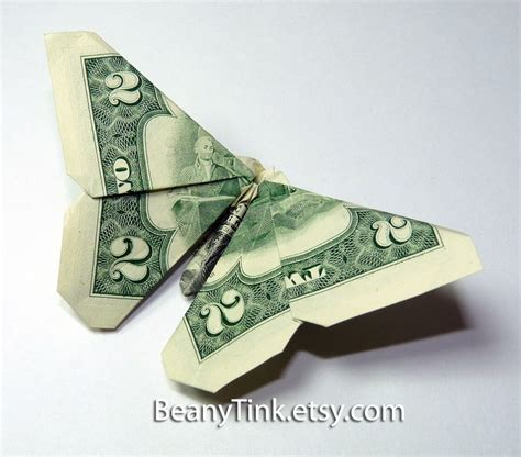 How Do They Make Paper Money - dollar origami two dollar wing butterfly