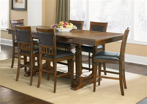 Narrow Dining Chairs Brown Varnished Walnut Wood Narrow Dining Tables For Small Spaces With 6 Dining Chair Placed On