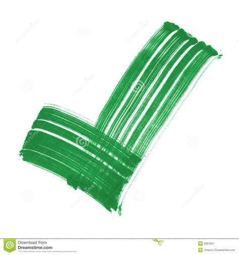 Big 4 Background Check Green Tick Sign Strong Brush Stock Illustration Image