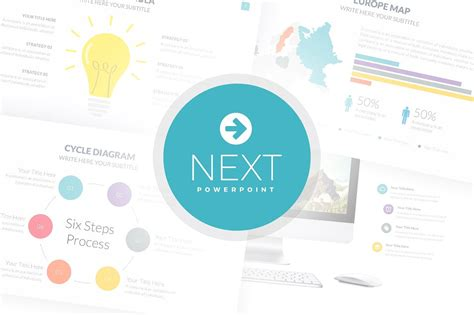 Next Powerpoint Template Presentation Templates Creative Market Presentation Templates