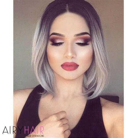 Ombre Look Grau by 20 Best Black And Grey Ombr 233 Hair Extension Color Ideas