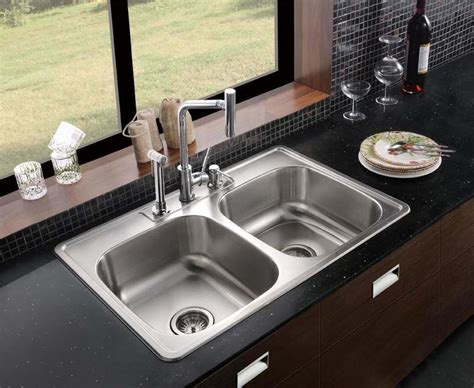 top mount kitchen sinks kitchen top mount or under mount