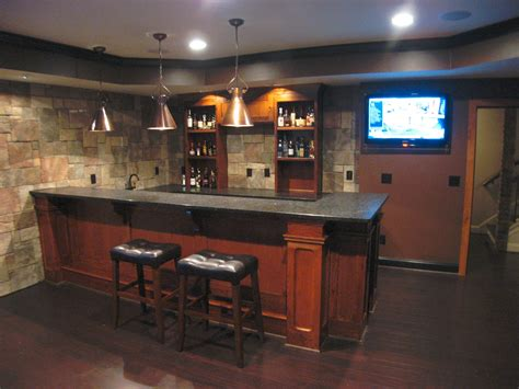 basement bar custom basement bar with stone veneer on the walls bars