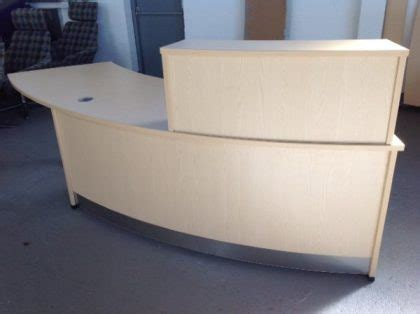 light oak reception desk used and second hand reception desks for sale 2nd user