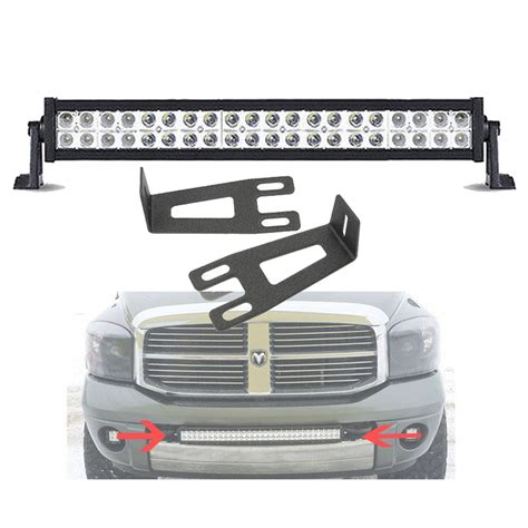 Ram 2500 Led Light Bar 20 22 Quot Led Light Bar Windshield Mount Brackets For 09 16 Dodge Ram 2500 3500