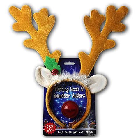 reindeer antlers light up blinking flashing nose one