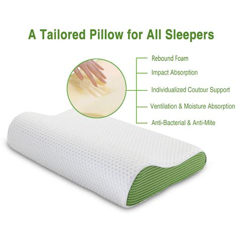 langria memory foam anti snore ergonomic contour bed pillow stress free soft new ebay