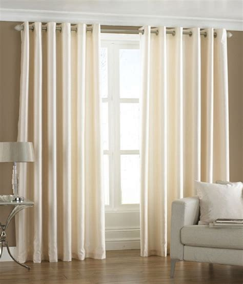 Window Curtains Price Homefab India White Plain Polyester Window Curtain Buy