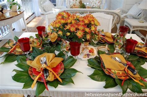 table scapes a colorful autumn table setting