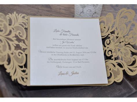 Hochzeitseinladung Italienisch by Einladungskarte Zur Hochzeit Zweisprachig Quot Goldpracht Quot