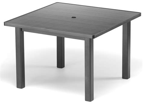 square patio dining table telescope casual aluminum slat top 42 square dining table