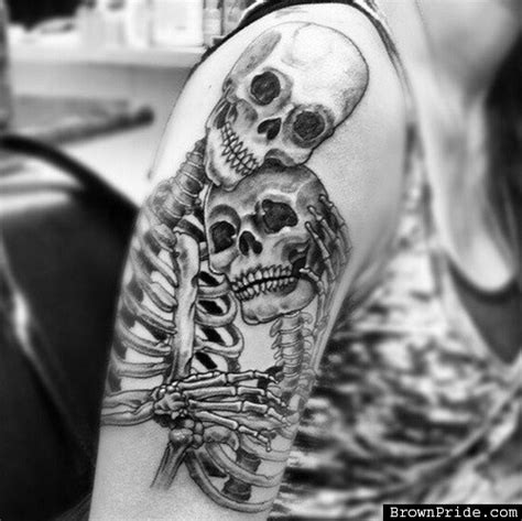 couples skull tattoos images designs