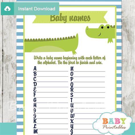 Alligator Baby Shower by Lime Green Blue Alligator Baby Shower Bundle D145