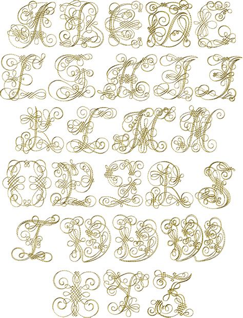 gold pattern font abc designs gold capitals font machine embroidery designs
