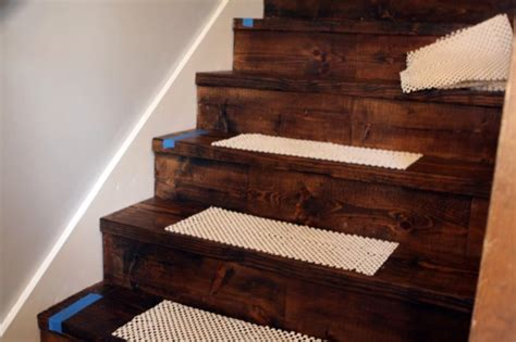 ikea rug mat stair tread diy on our little stairs this would be a piece of cake for the diy stair runner what emily does