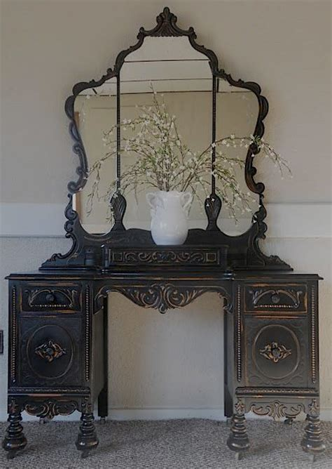 Black Antique Vanity by Vintage Vanity In Black Vintage Vanity Vanities And