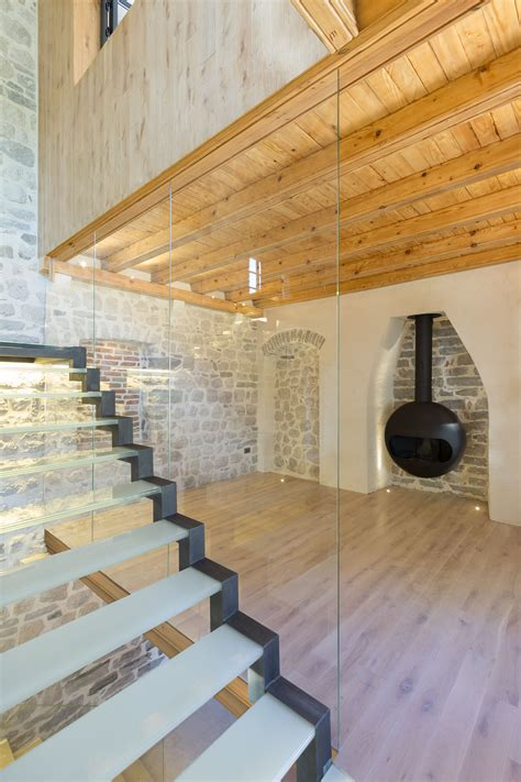 stone house renovation modern renovation of a 19th century old stone house in montenegro living room with
